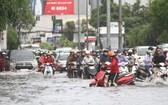 大雨後阮友景街嚴重受淹。