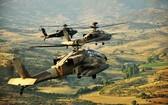 """圖為以色列空軍""""阿帕奇""""直升機。"""