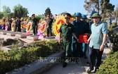 廣治省廣治市黨部和政府昨(27)日在廣治市烈士陵園隆重舉行烈士骸骨安葬儀式。(圖源:越通社)