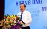 政府常務副總理張和平在會上致詞。(圖源:金龍)