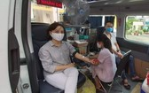 儘管新冠肺炎疫情演變複雜,當天仍吸引廣大越、華婦女參加志願捐血活動。