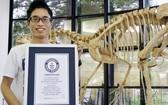 世界上最小的非鳥恐龍蛋化石獲得了吉尼斯世界紀錄的認證。(圖源:共同社)