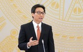 政府副總理、新冠肺炎疫情防控國家指委會主任武德膽在會上講話。(圖源:光孝)