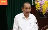 政府常務副總理張和平在會議上發表講話。(圖源:越通社)