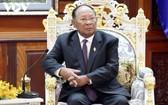 柬埔寨王國國會主席韓桑林。(圖源:VOV)