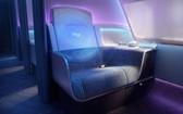"""英國研發人員展示了""""未來飛機""""機艙的概念設計,設計的重點在於保護旅客,改善衛生水平,提高飛行質量。(圖源:互聯網)"""