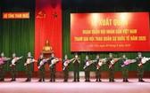 我國人民軍代表團參加國際軍事比賽的出征儀式。(圖源:互聯網)