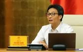 政府副總理、新冠肺炎疫情防控國家指委會主任武德膽主持會議。(圖源:VGP)