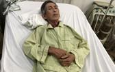 敖文昌在阮知方醫院心臟科病床上。