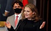 加拿大總理杜魯多18日任命副總理弗里蘭兼任財政部長。(圖源:路透社)