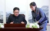 朝鮮最高領導人金正恩(左)和胞妹金與正(右)。(圖源:AP)