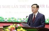河內市委書記王廷惠在會上致開幕詞。(圖源:VTV)