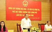 政府常務副總理張和平(中)在會上發表講話。(圖源:黎山)