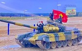 越南參賽隊VN1坦克車隊。(圖源:越南國防網)