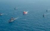 土耳其國防部當地時間26日表示,土耳其和美國當天在東地中海進行海上軍事演習。(圖源:AP)