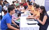 勞動者參加本市就業交易平台。(圖源:互聯網)