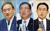左起:菅義偉、石破茂、岸田文雄。(圖源:互聯網)