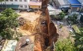 造成4人死亡的坍塌事故現場。(圖源:山松)
