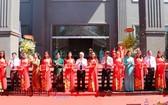 平福省政治學校宿舍落成剪綵儀式。(圖源:平福報)