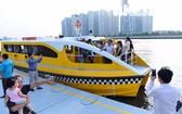 本市水上巴士為民眾服務。