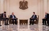 俄羅斯副總理鮑里索夫與敘利亞總統巴沙爾舉行會談。(圖源:SANA)