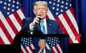 特朗普8月24日在美國共和黨全國代表大會上講話。(圖源:新華社)