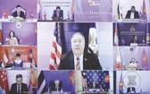美國國務卿蓬佩奧在會上發表講話。(圖源:互聯網)