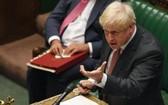 英首相在下議院強調他會繼續推動《內部市場法案》。(圖源:Getty Images)