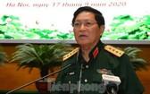 國防部長吳春歷大將主持會議並發表講話。(圖源:前鋒報)