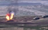 亞美尼亞國防部公佈擊毀阿塞拜疆T-90坦克的照片。(圖源:互聯網)