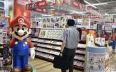 日本任天堂公司人氣遊戲《超級馬里奧兄弟》(Super Mario Bros) 迎來了誕生35週年。(圖源:共同社)