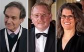 (左起)彭羅斯、根澤爾及格茲獲得諾貝爾物理學獎。(圖源:互聯網)