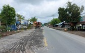 從七岔河口至州城縣路段的1A國道在改建中。(圖源:俊光)