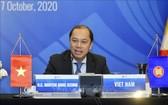 外交部副部長阮國勇主持東盟高級官員視像會議。(圖源:越通社)