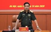 黨中央委員、國防部副部長黎詹上將主持會議並發表講話。(圖源:戰勝)