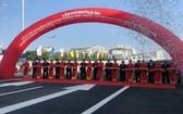 梅易-南昇龍路段立交橋工程落成儀式。(圖源:JICA)