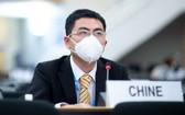 2020年6月30日,中國代表出席在日內瓦舉行的人權理事會第44屆會議。(圖源:聯合國)