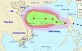 圖為沙德爾颱風的移動方向。(圖源:中央水文氣象預報中心)
