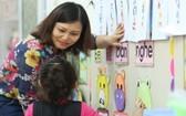 幼兒園師生在互動交流。(示意圖源:清雄)