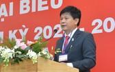 市新聞工作者協會主席陳仲勇在會上發言。(圖源:越勇)
