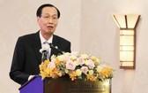 市人委會常務副主席黎清廉在會上發言。(圖源:延安)