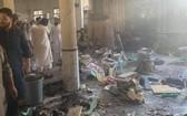 學校在爆炸後一片狼藉。(圖源:推特)
