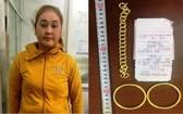 被刑拘的嫌犯楊氏碧蓮(左圖)及涉案物證。(圖源:警方提供)