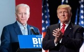 現任美國總統共和黨候選人特朗普(右)和民主黨對手拜登(左)。(圖源:互聯網)