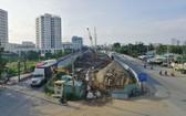 施工中的第二郡美水3橋建設工程。