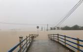 11月10日下午2時30分,萬平鄉平忠1村一片汪洋。(圖源:呂胡)