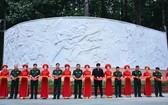 第七軍區司令部舉行的浮雕工程與多功能體育館落成儀式。(圖源:雄科)