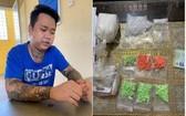 被起訴的嫌犯鄧明煌(左圖)及涉案毒品物證(右圖)。(圖源:同奈公安)