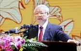 總書記、國家主席阮富仲出席與發表重要講話。(圖源:越通社)