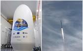 """""""哨兵六號""""於當地時間上午9時17分,在加州范登堡空軍基地由SpaceX的""""獵鷹九號""""火箭搭載升空。(圖源:互聯網)"""